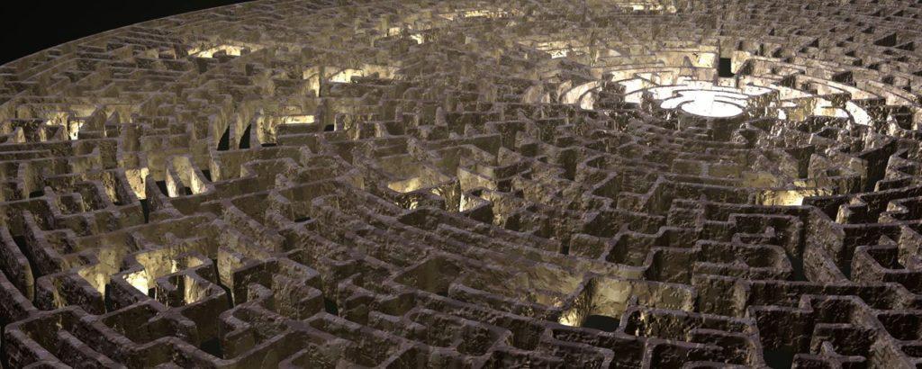 Photo of a maze