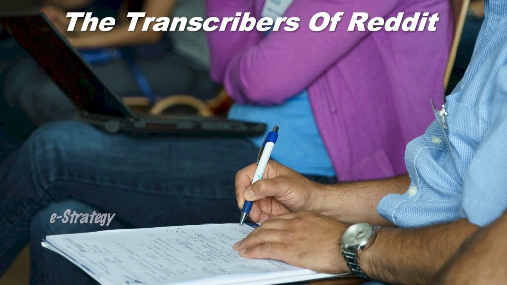 Transcribers of Reddit